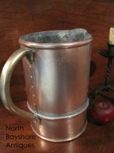 New England Huge Tavern Copper Pitcher Ewer 1700s