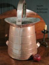 FIve Gallon Copper Liquid Measure Milk Pail Bucket 1800s