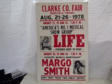 Vintage Concert Poster Margo Smith Berryville Virginia