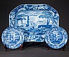 Blue and white ironstone platter with scenic decoration, c.1860, 16