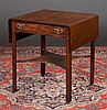 Irish Chippendale mahogany pembroke table, drawer fitted with compartments, straight legs with canted corners and shaped platform, c.1790, 24