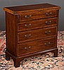 Chippendale style mahogany bachelors chest with flip over top, four graduated drawers and bracket feet, by Baker Furniture Co., c.1920, 9