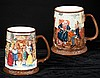 Pair of Royal Doulton tankard mugs, one