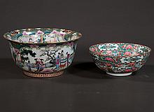 Chinese rose medallion bowl with palace scene and figural decoration, 10