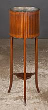Sheraton mahogany planter with cross-banded side panels and on tapered splay legs, c.1900, 13
