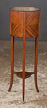 Sheraton style mahogany planter on square tapered splay legs, c.1900, As Found (liner repaired), 13
