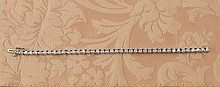 14 kt. white gold diamond tennis bracelet with 41 round brilliant cut diamonds, approx. weight 5.0 cts.