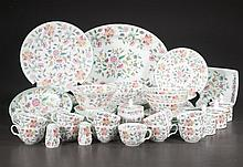 Set of Minton china with multicolor floral decoration, marked