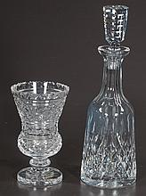 Waterford cut crystal vase, 7