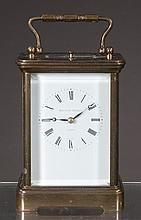Swiss brass carriage clock marked