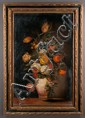 19th century Venetian style floral still life painting, signed