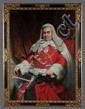 Oil painting on canvas, portrait of the Lord Chief Justice, Viscount Gordon Hewart, by John Lander, 1869-1944, canvas size-52
