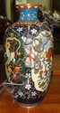 Japanese cloisonné vase with bird design, 7