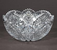 American Brilliant period cut glass bowl in the