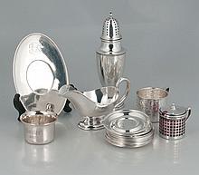 Sterling silver muffineer, 8