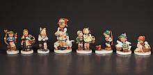 Group of eight Hummel porcelain figures
