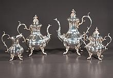 Four piece Reed and Barton silver plated tea and coffee service in the Winthrop pattern