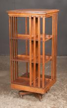 Sheraton mahogany three tier revolving bookstand, 20