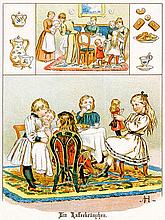 Schanz, Frieda. Puppenspiel. Ein Buch für kleine Mädchen. Mit 16 chromolith