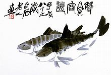 Asien - China - - Tschi Pai-Schi (Qi Baishi). Best ink and Water-Colour Pai