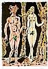Masson, André. Adam et Eve. Aquatinta-Radierung auf Velin aus der Mappe