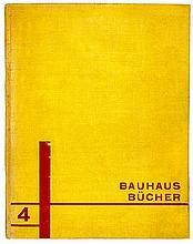 Bauhaus - - Schlemmer, Oskar. Die Bühne im Bauhaus. Titelblatt von Oskar Sc
