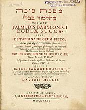 Masekhet Sukka mi-Talmud Bavli (hebraice) h