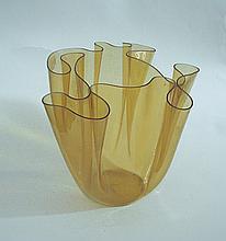 Glass Fazzoletto Vase Pietro Chiesa, Fontana Arte, 1960