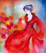 Graceful Lady-Oil on Canvas Original High End Saudemont