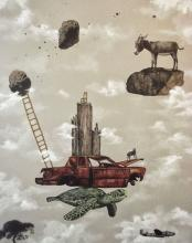 Original Mixed Media- Mexican Surrealist