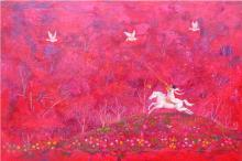 Herald Abounding Joy-Oil on canvas by Isis Dora