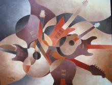 Original Oil on Board-Dennis Lewan American Master Artist