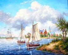 Oil Original American Master Dennis Patrick Lewan