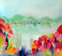 Floral Parade-Oil on Canvas Original High End Saudemont-39 x35