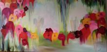 Red Flowers-Original Oil on Canvas