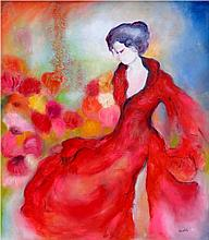 Graceful Lady-Oil on Canvas Original High End Saudemont