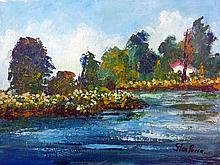 Flowing River-Acrylic on Canvas High End Original Parra