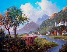 High End Oil  Original American Master Dennis Patrick Lewan-The Best View Image