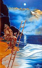 Oil On Canvas Original Surrealist Amaya
