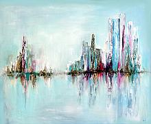Abstract Original Oil-Nicole Denarie Saudemont