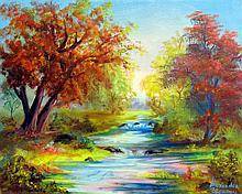 Autumn Begins-Oil on Canvas Original Zeporov