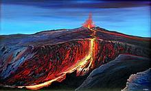 Oil on Canvas-Lava of Kilauea