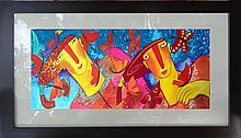 Twins-Watercolor Original on Archival Paper by Gallardo