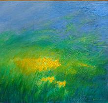 Springtime Rain Abstract-Oil on Canvas 24