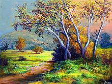 Wooded Walkway-Oil on Canvas Original Oropeza