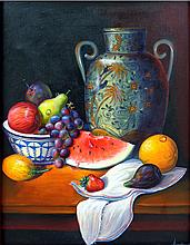 Still Life Fruits-Original Oil-Oropeza