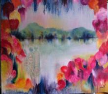 35 x 39-Oil on Canvas Original Nicole Denaire Saudemont