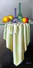Still Life With Apples-Oil on Canvas High End Zavaleta