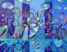 Last Supper-Acrylic on Canvas Original Riera