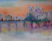 Utopian Abstract-Oil on Canvas Original High End Saudemont